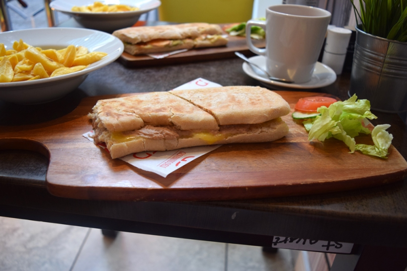 Tuna mayo panini