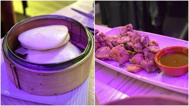 Taiwenese buns with chicken karaage