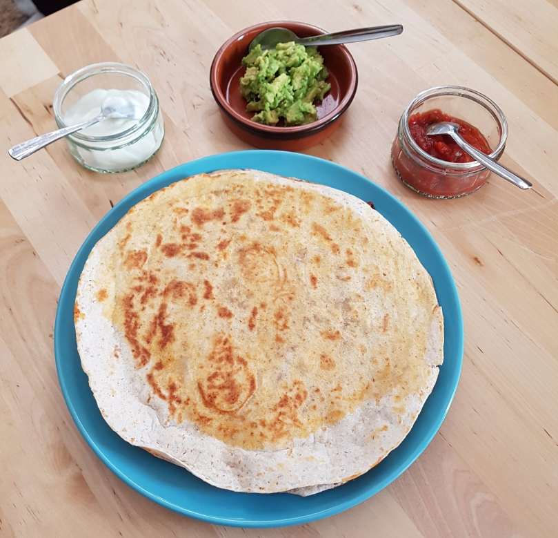 quesadillas-vegetarian-refried-beans