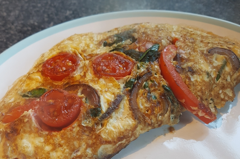 close-up-omelette-vegetarian